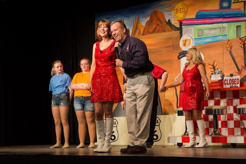 Susan and Bob on Stage.